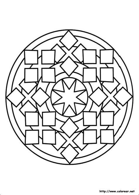 imagenes abstractas geometricas para pintar dibujos para colorear de mandalas