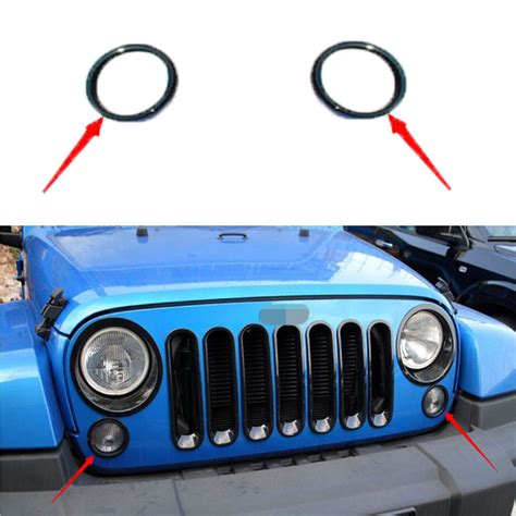 2pcs front turn signal light l cover ring trim fit for