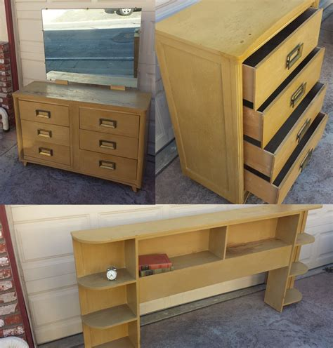 1950 bedroom furniture 1950s bedroom set dresser vanity headboard haute juice
