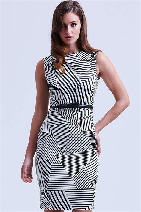 White Mix Litle Stripe black and white mix up stripe dress