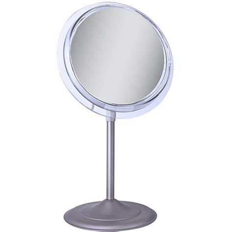 sa47 zadro surround light pedestal vanity mirror with 7x