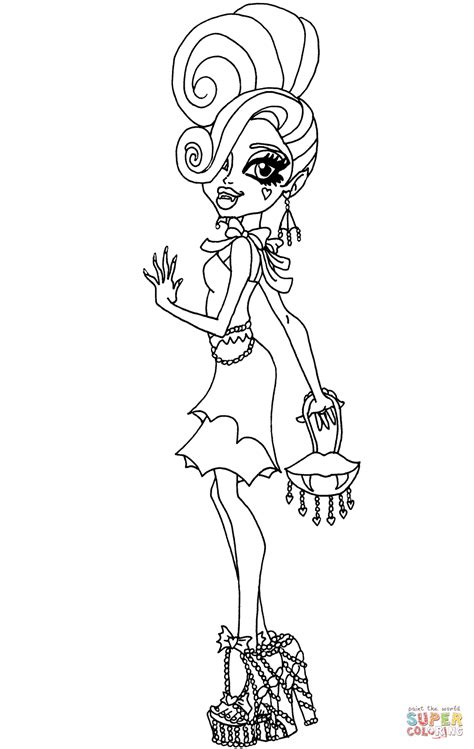 monster high coloring pages frights camera action www