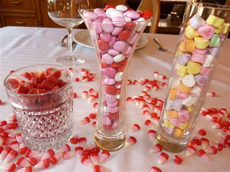 valentine table decorations easy valentines day decorating with candy easy event ideas