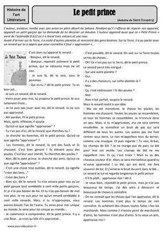 Projet 2014- 2015: Le Petit Prince   Littératie