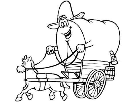 cowboy coloring pages coloringpages1001 com