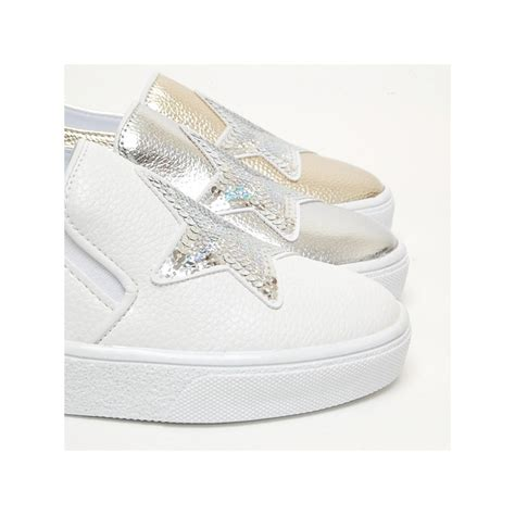 Sepatu Fashion Sneakers Semi Boots Platform Velcro Glitte 1 s white platform elastic band glitter silver spangle synthetic leather sneakers shoes