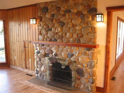 cobblestone fireplace cobblestone fireplace for the home