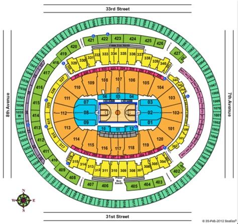 Square Garden Seating Chart Knicks by Square Garden Tickets In New York Seating Charts