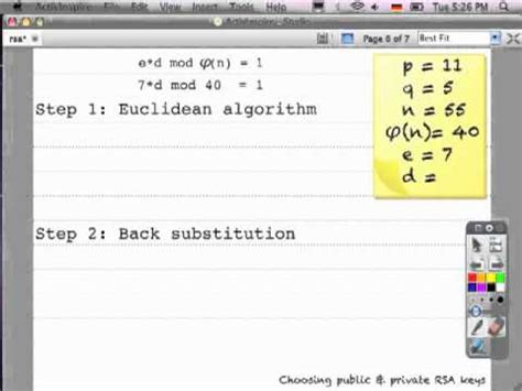 calculator rsa paper and pencil rsa starring the extended euclidean