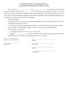 sample letter of completion of marriage counseling fill