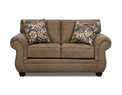 paisley loveseat simmons paisley loveseat emory brownstone