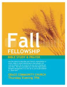 fall fellowship church flyer template flyer templates