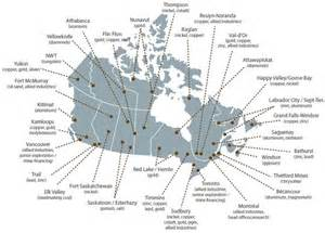 map of mines in canada canada and the mining world resource