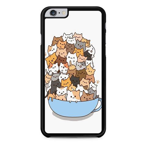 Cat Plastic Iphone 6 Ps14 White cats iphone 6 plus iphone 6s plus comerch