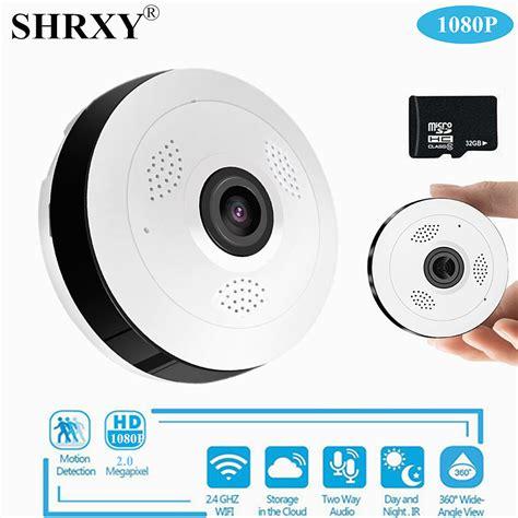 Ip Panoramic V380 Fisheye Lens 360 Degree Wifi Hd 1 3mp Olb2121 shrxy 360 degree panoramic wide angle mini cctv 1080p hd wireless smart ip fisheye