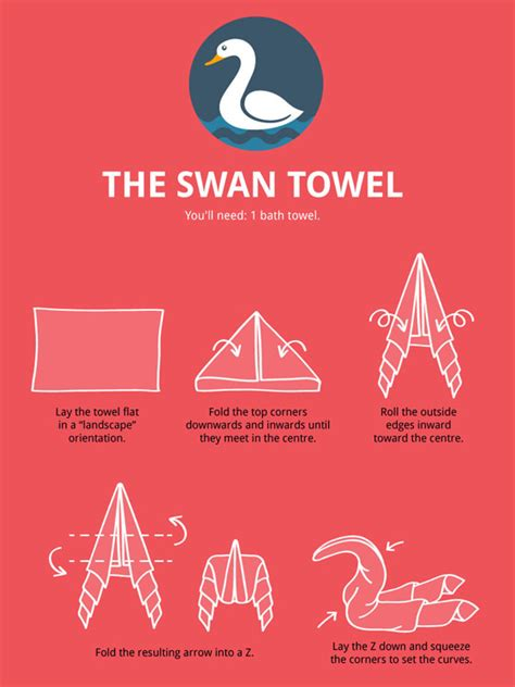 Make Your Dream House towel animal folding infographic ultimate guide to create