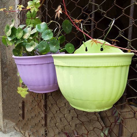 large basket wall hanging garden balcony home flower plant