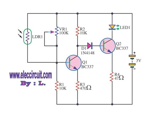 light sensor circuit using ldr four light sensor alarm circuits eleccircuit com