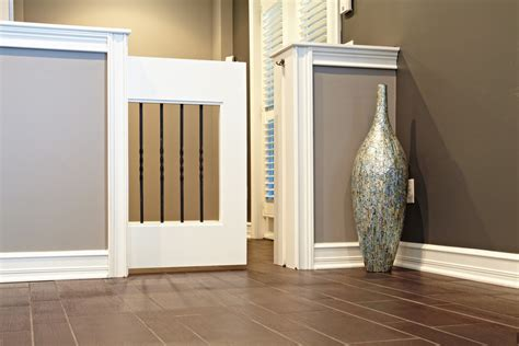 dog gates for inside house dazzling dog gates indoor in spaces detroit with dog door next to sliding gate