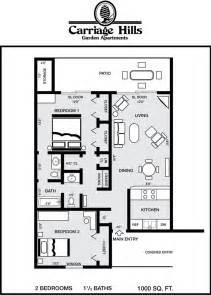 Beautiful 2 Bedroom 1.5 Bath House Plans #9: 2B_1_5BA.jpg