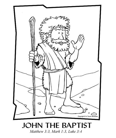 printable coloring pages the baptist the baptist coloring pages az coloring pages
