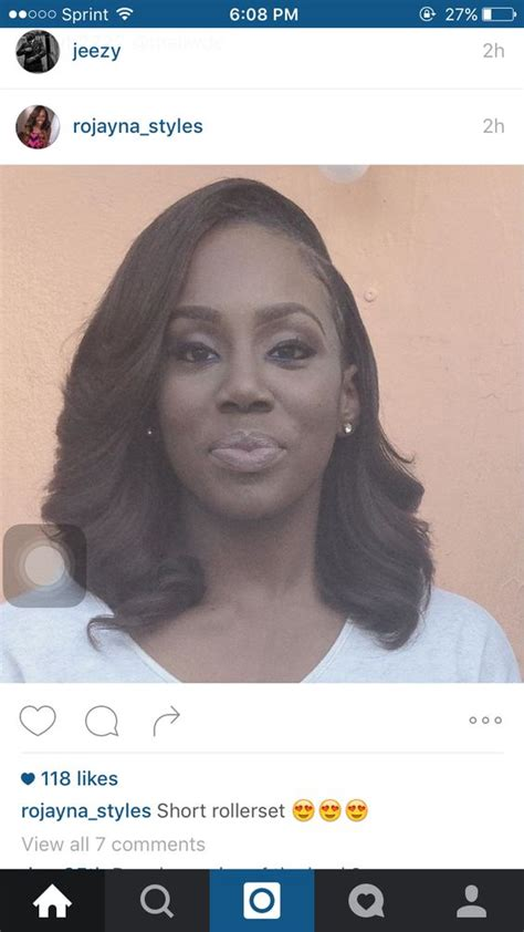 how to roller set a bob roller set bob sew in beautified pinterest