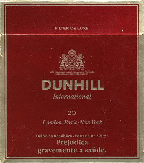 Dunhill International Menthol 20 countries