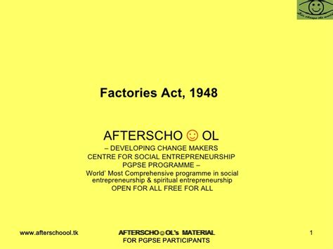 Factories Act 1948 Mba Notes by Factories Act 1948 1233306298842984 3