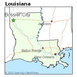 louisiana map bossier city best places to live in bossier city louisiana