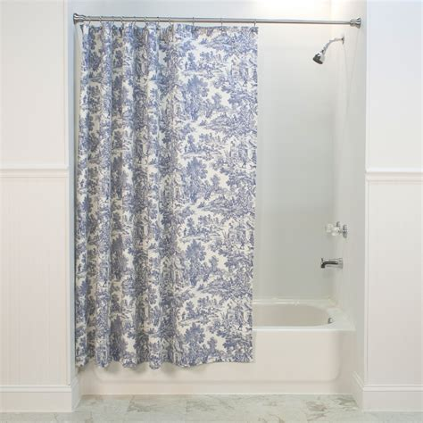 blue toile shower curtain blue and white toile shower curtain park toile shower
