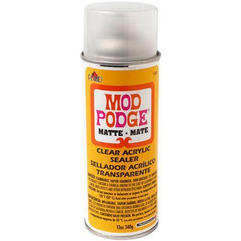 Clear Acrylic Sealer Mod Podge Clear Acrylic Aerosol Sealer 12oz Matte Walmart