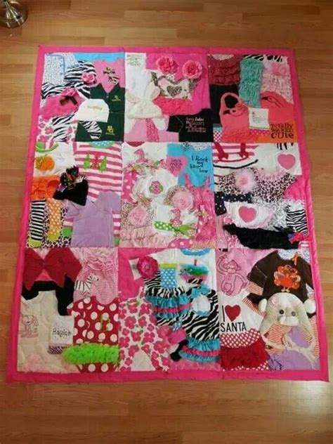 Patchwork Quilt Made From Baby Clothes - baby blanket made from baby clothes liliann abigail