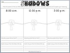 sidewalk patterns worksheet answers shadows worksheet best worksheets and graphic organizers