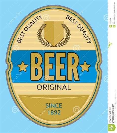 design beer label illustrator beer label stock photo image 31228400