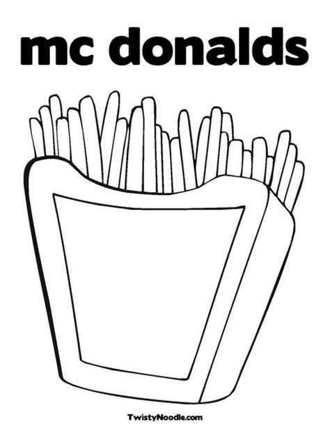 Mcdonalds Coloring Pages mcdonalds logo coloring page coloring pages