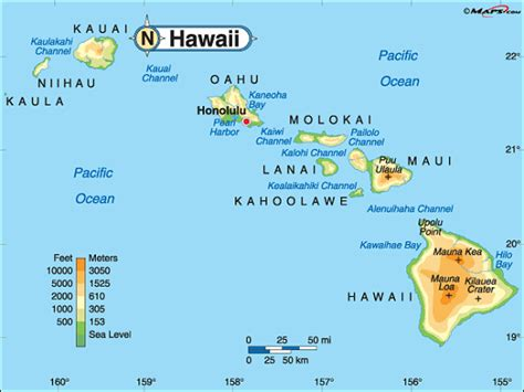 map of hawaii islands printable us state maps free printable maps