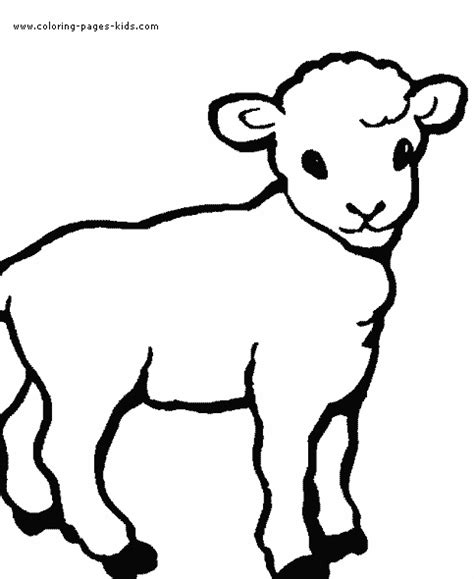sheep outline coloring page lamb color page