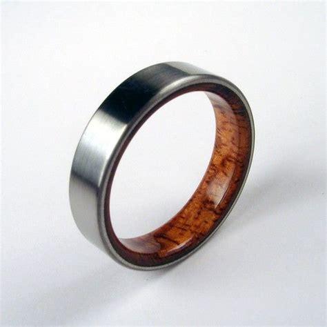 koa wood and titanium ring koa wood interior me style