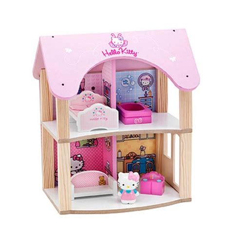 doll house play set hello kitty summer dollhouse wooden playset play visions hello kitty playsets at