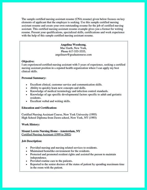 Great New Grad Cna Resume Impress The Employer With Great Certified Nursing Assistant Resume Check More At Http