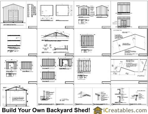 12 X 12 Shed Plans Free by 12x14 Shed Plans Gable Shed Storage Shed Plasn