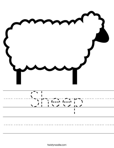 lamb coloring pages preschool sheep worksheet twisty noodle