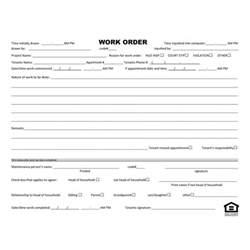 maintenance repair form work order form standard forms