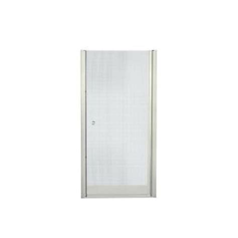 Sterling Pivot Shower Door Sterling Finesse 35 1 4 In X 65 1 2 In Semi Frameless