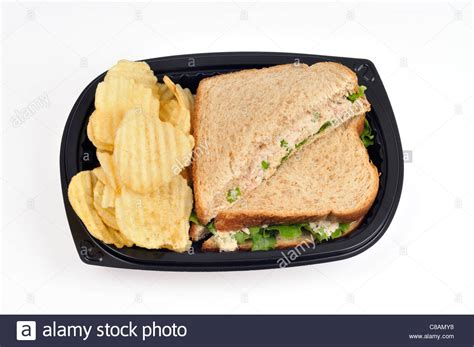 Tuna Mayo Pyramid Bread tuna mayo sandwich with lettuce made with wholemeal bread cut in stock photo royalty free image