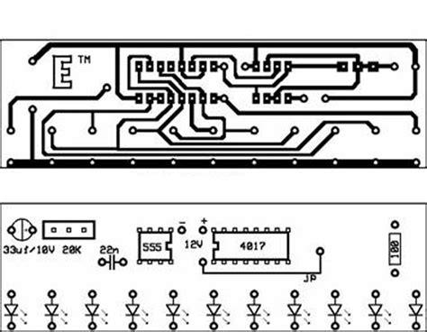 rangkaian dan layout running led rangkaian running led ilmu elektronika