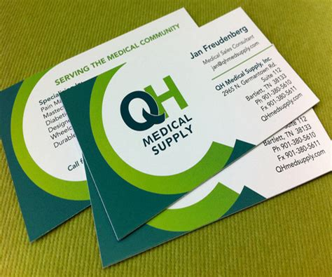 QH Medical Supply Business Card   Best Business Card