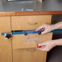 deluxe drawer pull jig  rockler woodworking  hardware