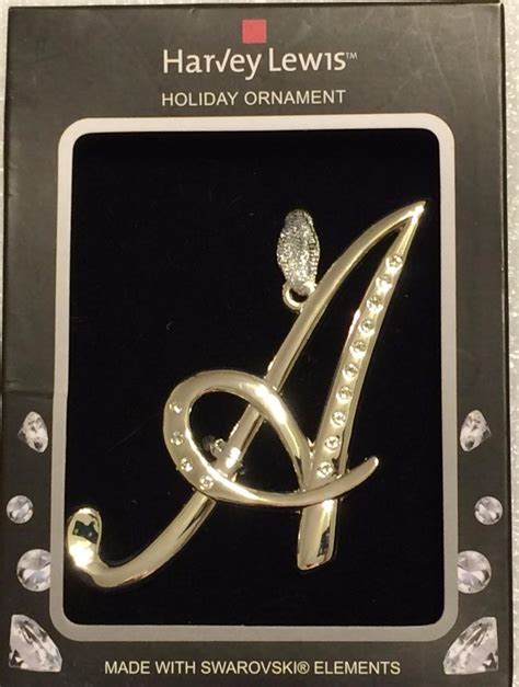 harvey lewis christmas tree ornament letter new w