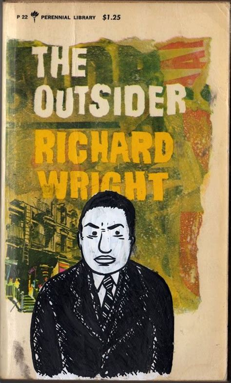 the black tide an outcast novel volume 3 books richard wright gouache and ink portrait on vintage